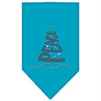 Mirage Pet Products 67-25-10 SMTQ Peace Tree Rhinestone Bandana Turquoise Small