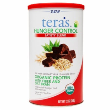 tera's whey Organic Hunger Control, Fair Trade Dark Chocolate, 12 oz