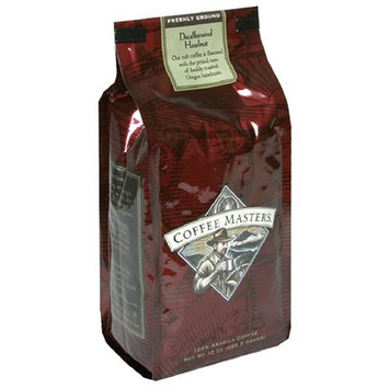 Coffee Masters Flavored Coffee, Hazlenut Decaffeinated, Ground, 12-Ounce Bags (Pack of 4)