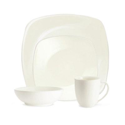 Noritake Dinnerware, Colorwave White Square 4 Piece Place Setting
