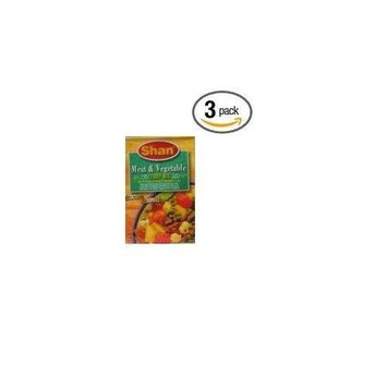 Shan Meat & Vegetable Curry Mix 3.5 Oz(pack of 3)