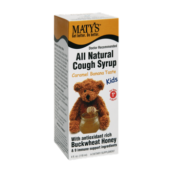 Maty's All Natural Kids 1+ Caramel Banana Taste Cough Syrup