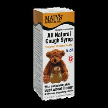 Maty's All Natural Kids 1+ Caramel Banana Taste Cough Syrup