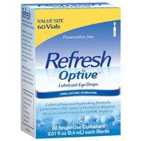 Refresh Optive Sensitive Lubricant Eye Drops Single Use Vials