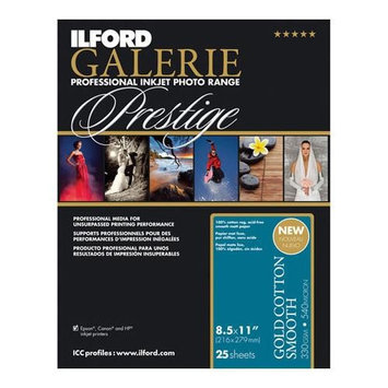 Ilford GALERIE Gold Cotton, Smooth, Inkjet Paper, 8.5x11