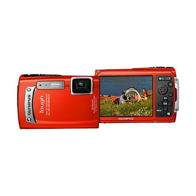 Olympus 14 MP Tough Digital Camera TG320 Red