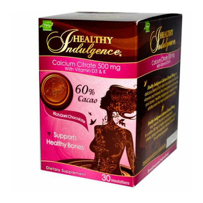 Hero Nutritionals Healthy Indulgence Calcium Citrate Rich Dark Chocolate 500 mg 30 Pieces