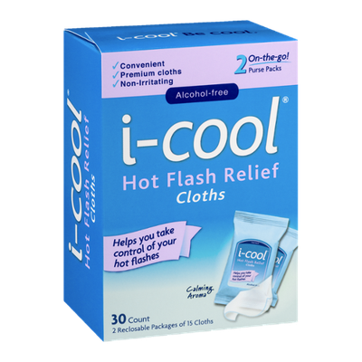 i-cool Hot Flash Relief Cloths - 30 CT