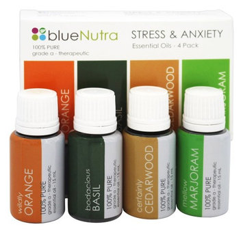 BlueNutra - 100 Pure Essential Oil Stress & Anxiety - 4 Pack