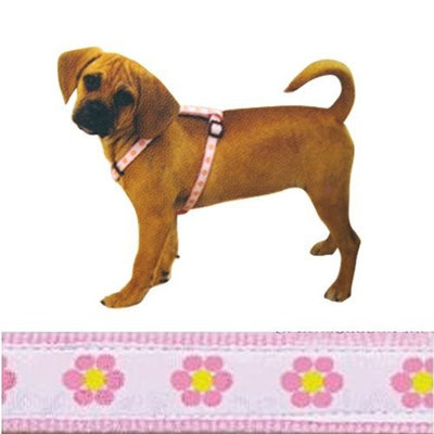 East Side Collection Fashion Pet Harness - Pink Daisies