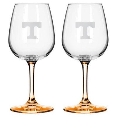 NCAA Tennessee Volunteers Boelter Brands 2 Pack Satin Etch Wine Glass - 12