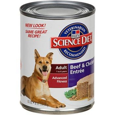 Hill's Science Diet  Hill's Science Diet Adult Dog Ground Entrees Wet Food, 13-Ounce Can, 12-Pack
