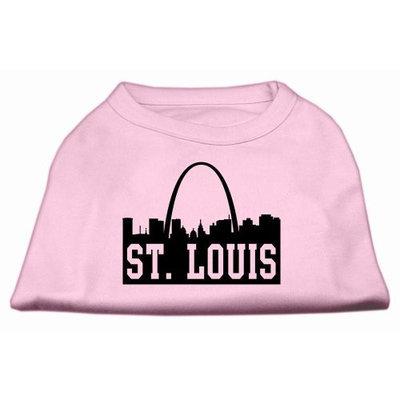Mirage Pet Products 5174 XXLLPK St Louis Skyline Screen Print Shirt Light Pink XXL 18