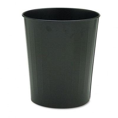 Safco Products Fire-Safe Wastebasket, Round, Steel, 23.5 Quart, Black