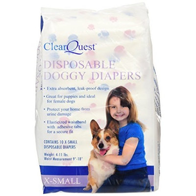 ClearQuest Disposable Doggy Diapers, X-Small