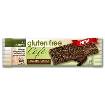 Gluten Free Cafe Chocolate Sesame Bar, .95-Ounce bars, 12-count Package