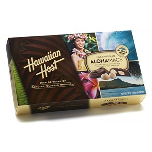 Hawaiian Host Macademia Nuts Hawaiian Host The Original chocolate Covered MACADAMIA NUTS BOX 14 OZ (397 g)