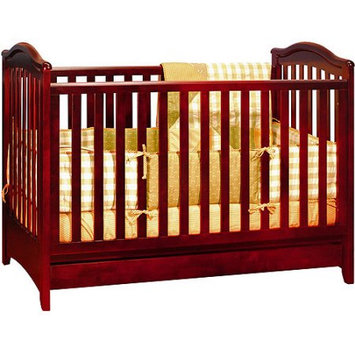 AFG Baby Furniture 612C Jeanie Convertible Crib with Drawer in Cherry