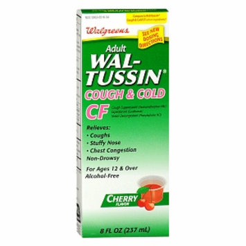 Walgreens Wal-Tussin Cough & Cold CF Expectorant, 8 Ounces
