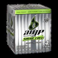 Mountain Dew AMP Engery Sugar Free Energy Supplement Drink - 4 PK
