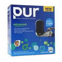 PUR Black/Chrome Advanced Faucet Mount, Black, 1 ea