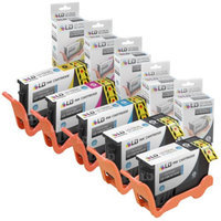 Compatible Lexmark 150XL Ink Set of 5 High YieInkjet Cartridges: 2 Black 14N1614, 1 Cyan 14N1615, 1 Magenta 14N1616 and 1 Yellow 14N1618 for Lexmark Pro715, Pro915, S315, S415 & S515 Printers