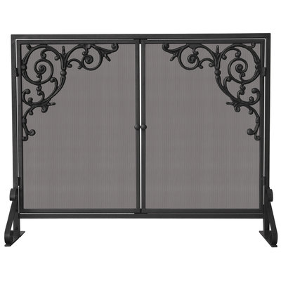 Uniflame Single Panel Olde World Iron Screen with Doors and Cast