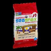 SeaSnax Premium Roasted Seaweed Snack Chipotle