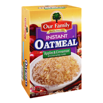 Our Family Instant Oatmeal Apples & Cinnamon Flavor