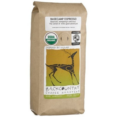 BackCountry Coffee Roasters Organic Basecamp Espresso, 16-Ounce Bags (Pack of 2)