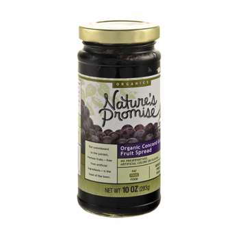 Nature's Promise Organic Concord Grape Fruit Spread