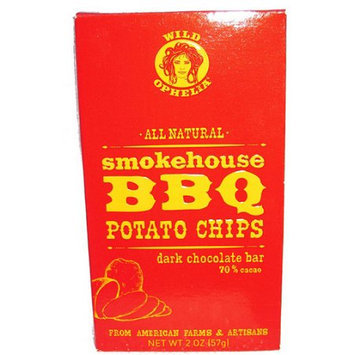 Wild Ophelia All Natural Bar Smokehouse Bbq Potato Chips Dark Chocolate 2.0 Ounce (Pack of 12)