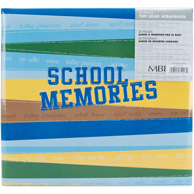 School Memories Postbound Album 12 X12 -Blue/Green