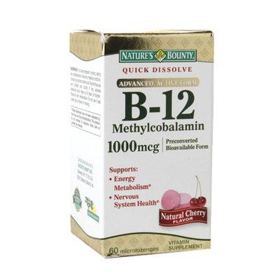 Nature's Bounty Methylcobalamin Vitamin B-12 1000 mcg