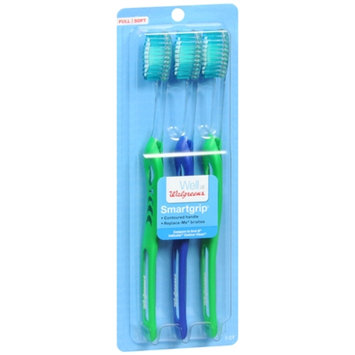 Walgreens Smartgrip Toothbrush, Full, 3 ea