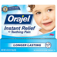 Orajel : Baby  For Teething Cherry Flavored Gel Oral Pain Reliever