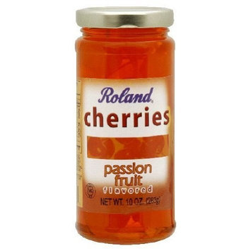Roland Cherries, Passion Fruit Flavored, 10-Ounce (Pack of 6)