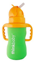 Limestone Thermal Bottle Sleeve Lt Green thinkbaby 1 Cover