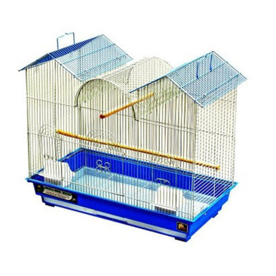 Prevue Pet Products Cockatiel Triple Roof Bird Cage - White/Blue