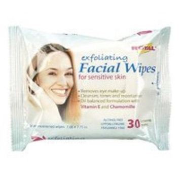 Royal Exfoliating Facial Wipes for Sensitive Skin - 30 Wipes