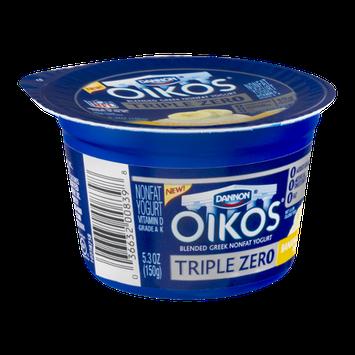 Dannon Oikos Triple Zero Nonfat Yogurt Banana Creme