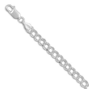 True Life Fly Company Sterling Silver 6 Inch Diam-cut Charm Bracelet 6 Inch Charm Bracelet Measures 4.5mm Wide- Lob-clasp