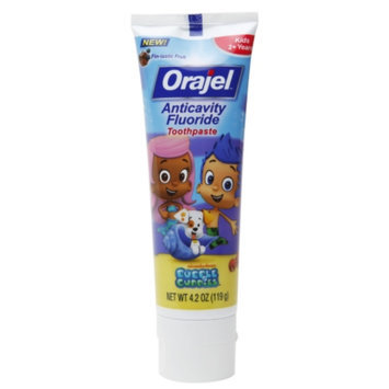 Orajel Bubble Guppies Anticavity Fluoride Toothpaste, 2+ Years, Fin-tastic Fruit, 4.2 oz