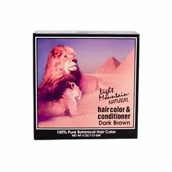 Light Mountain Natural Hair Color and Conditioner Dark Brown 4 fl oz