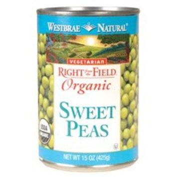 Westbrae Foods Westbrae Natural Vegetarian Organic Sweet Peas, Organic, Vegetarian, 15 Ounce Cans (Pack of 12) ( Value Bulk Multi-pack)