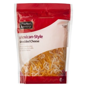 Market Pantry Finely Shredded Mexican Style Four Cheese Blend - 8 oz.