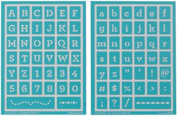 Plaid:craft Martha Stewart Crafts Martha Stewart Adhesive Stencils, Typewriter