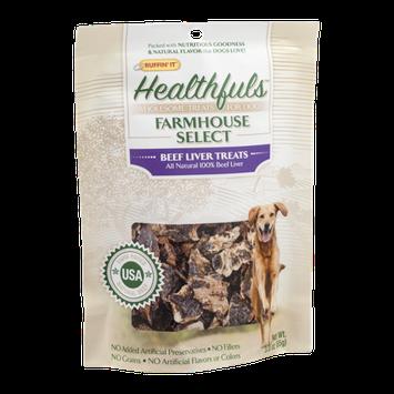 Ruffin' It Healthfuls Farmhouse Select Dog Treats Beef Liver