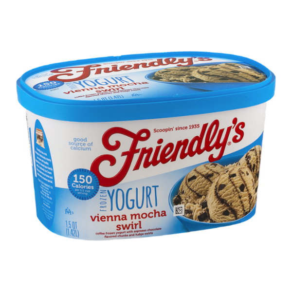 Friendly's Frozen Yogurt Vienna Mocha Swirl