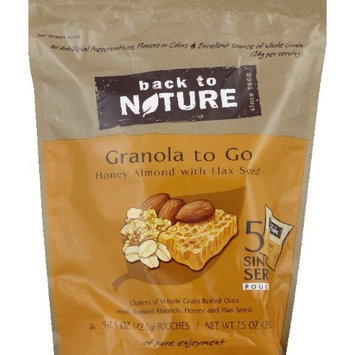 Back To Nature Honey Almond Granola to Go 7.5 oz (Pack of 6)
